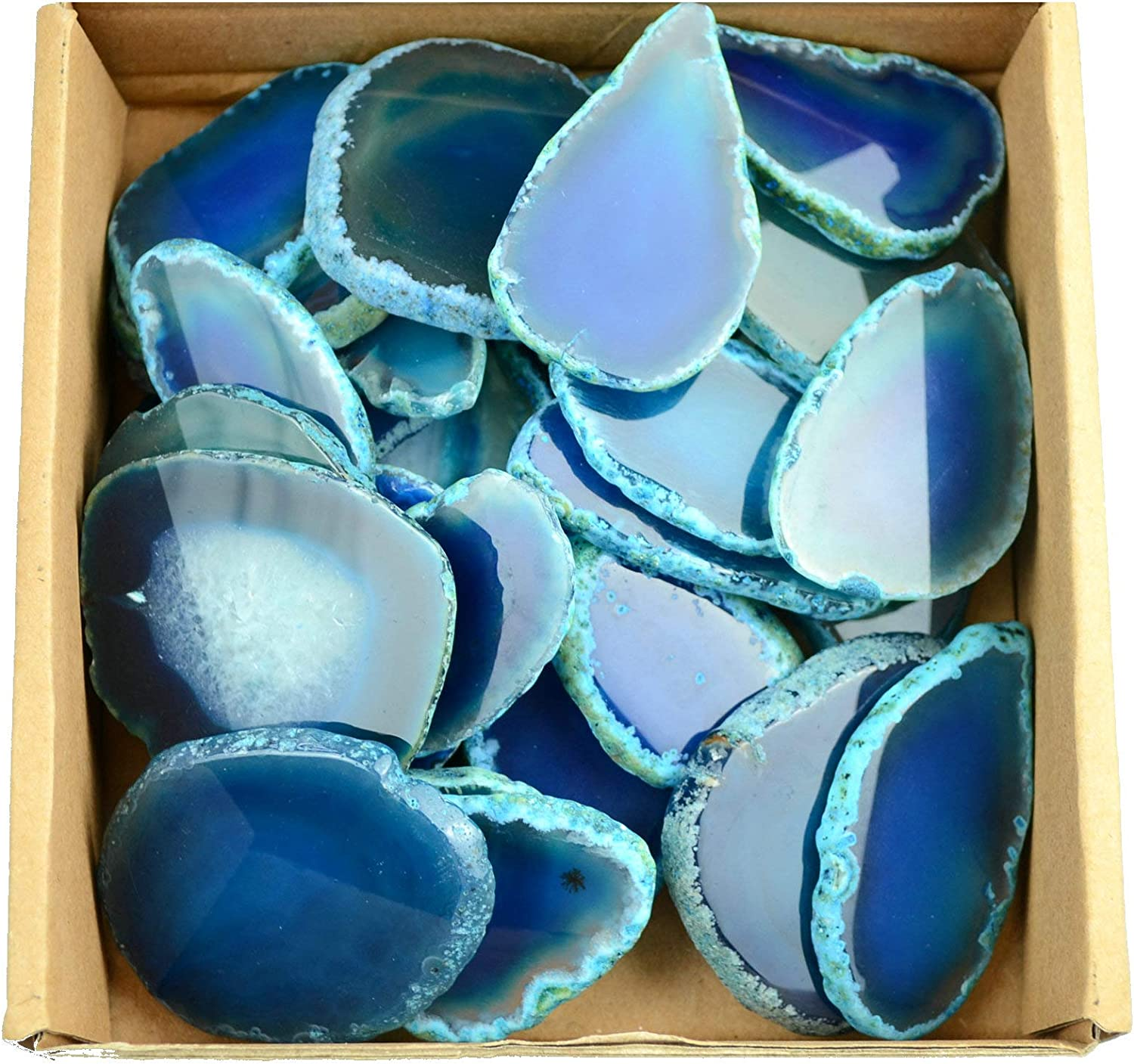 FHNP367 30 Pieces Agate Slices Stone Slab in Length Direct sale of manufacturer 2