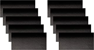 10 PCS Leather Repair Patch,4x8 Inch Leather Adhesive Kit for Couch Furniture Sofas Car Seats Handbags Jackets (Black)