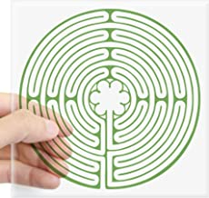 CafePress Green Chartres Labyrinth Square Sticker 3