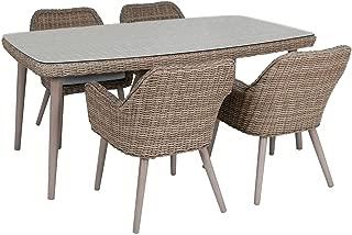 Tavolo pieghevole da giardino Classic dimensioni: LAP 60x70x60 cm AVANTI TRENDSTORE struttura in metallo con piano tavolo in Ecorattan di colore marrone