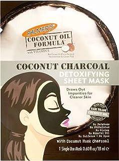 Palmer's Coconut Charcoal Detoxifying Sheet Mask for Women, 0.6 Ounce