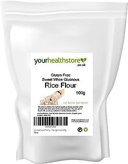 comprar comparacion Yourhealthstore - Harina de arroz blanco dulce sin gluten (glutinous) 500 g