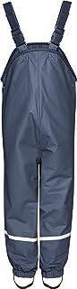 Playshoes Dziecięce spodnie przeciwdeszczowe, wiatro- i wodoszczelne spodnie błotniste z podszewką polarową