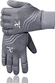 Running Gloves Liner Touch Screen Running Exercise Gym Workout Warm Mittens Women Men Touch Screen Cycling Breathable for Winter and Summer Driving Camping Hiking Driving Riding Cycling Outdoor Sports