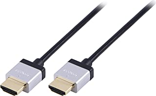 Philips High Speed Ultra Slim HDMI Cable, 8 Feet (2.4m) Thin Cable, Full HD 1080p, 4K Ultra HD, with Ethernet, Premium Gol...