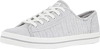 Keds Women's Kickstart Chambray Stripe Linen Sneaker