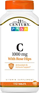 21st Century Natural C 1000 with Rose Hips Caplets, 110 Count (22383)