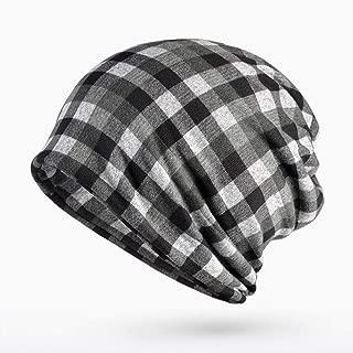 YLNNB Unisex Knitted Skullies Hat Bonnet Winter Beanie Warm Checkered Pattern Cap Skis Sports Beanies Hats for