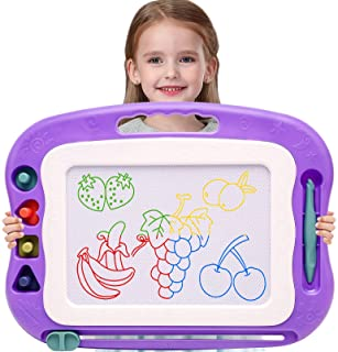 Wellchild Magnetic Drawing Board for Toddlers,Travel Size Toddlers Toys Colorful Erasable A Etch Toddler Sketch Magnetic D...