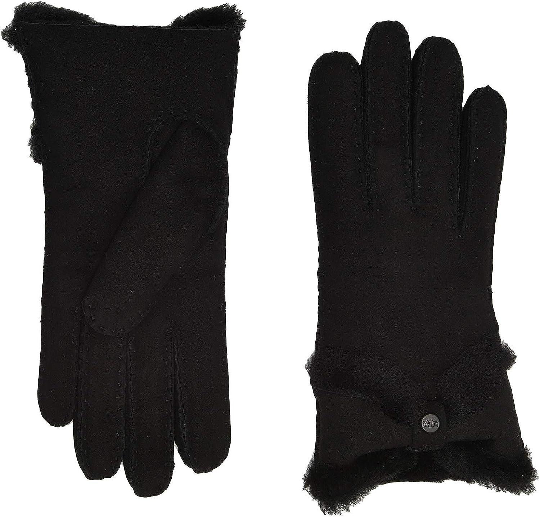 UGG Womens Sheepskin Turned Bow Glove