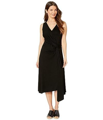 Karen Kane Asymmetric Wrap Dress (Black) Women