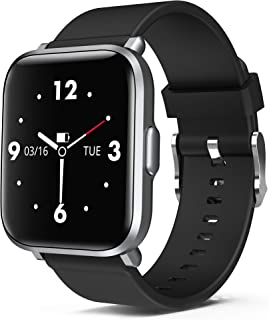 DIY Screen Smart Watch with Music Control, 18 Sports Mode Fitness Tracker Blood Oxygen Heart Rate Monitor Sleep Tracker Pedometer Step Calories Compatible with Samsung iPhone Android for Men Women