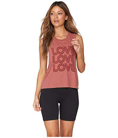 Spiritual Gangster Active Flow Top (Love Rust) Women