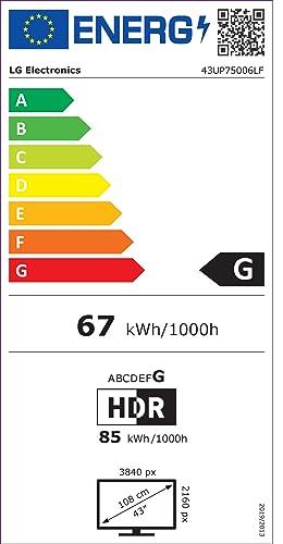 Etiqueta de eficiencia energética  LG 43UN7100ALEXA