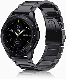 Fintie Band for Galaxy Watch 42mm/Galaxy Watch Active/Active2, 20mm Stainless Steel Metal Replacement Bracelet Strap Wrist Bands for Samsung Galaxy Watch Gear Sport/Gear S2 Classic Smartwatch, Black