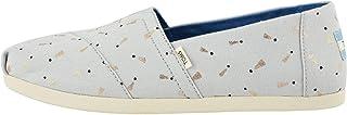 TOMS womens Alpargata flats shoes, Glacier Grey, 7 US