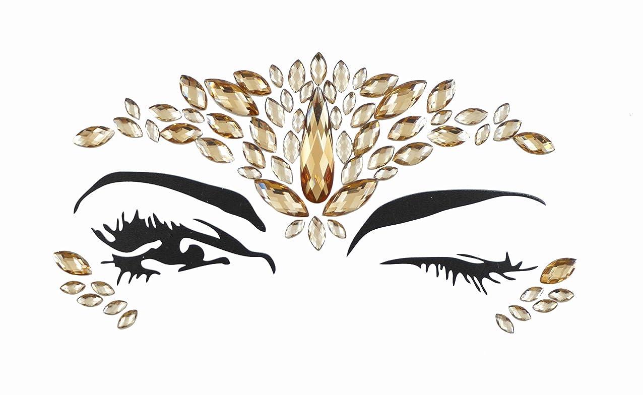間アミューズディレイクリスマスギフトデコレーションパーティー用ラインストーンTattooステッカークリスタルメイクアップ自己粘着Eye Shadowダイヤモンドステッカー