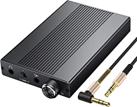 Proster Headphone Amplifier with 500mW Power Support 16-500Ω Portable Amp Rechargeble 3.5mm HiFi Audio Amp Earphone Amplifier USB for iPhones iPod MP3 MP4 Digital Player Computer
