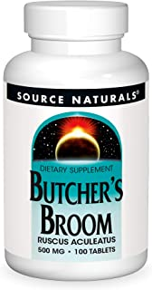 Source Naturals Butcher's Broom Dietary Supplement - Ruscus Aculeatus - 100 Tablets