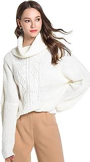 YSJERA Women's Oversized Loose Turtleneck Long Sleeves Pullover Knit Sweater Top Shirts