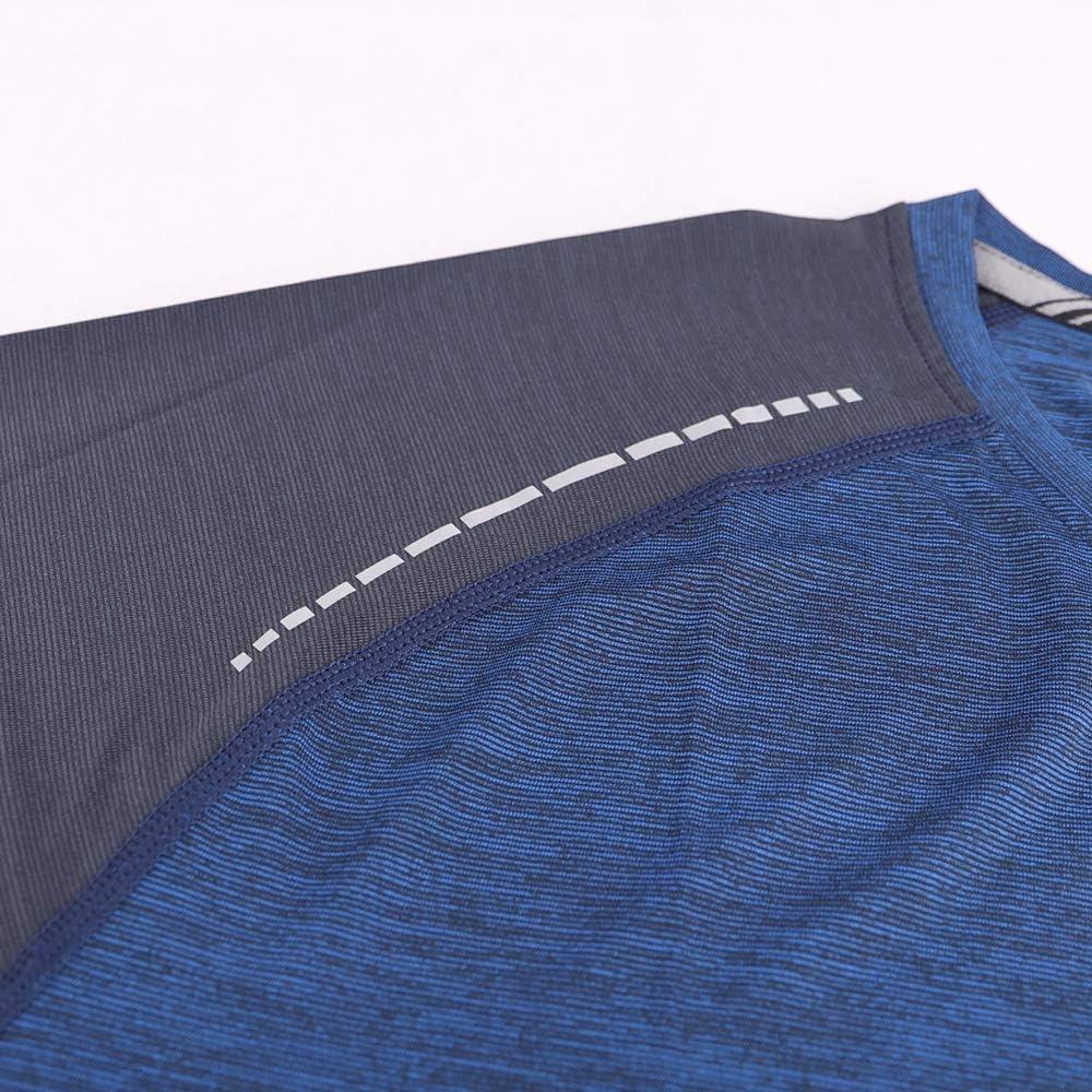 Hombre Camisetas de Running Ropa Corriendo de Manga Larga Secado r/ápido Reflectante