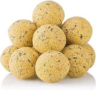 dobar Lot de 100 Boules de Graisse avec Filet - 2 Supports de Boules de Graisse à Suspendre - Nourriture pour Oiseaux Sauv...