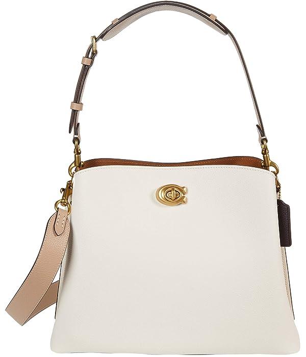 COACH Color-Block Leather Willow Shoulder Bag