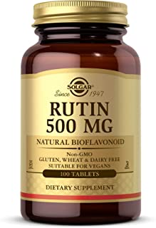 Solgar Rutin 500 mg, 100 Tablets - Antioxidant - Natural Bioflavonoid - Vegan, Gluten Free, Dairy Free, Kosher - 100 Servings
