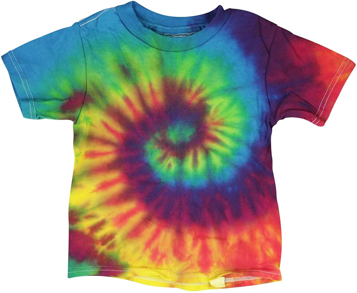 Short Sleeve Tie-Dye T-Shirt - Reactive Rainbow -Toddler - Assorted Sizes
