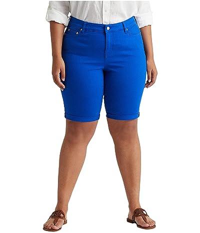 LAUREN Ralph Lauren Plus Size Cuffed Denim Bermuda Shorts