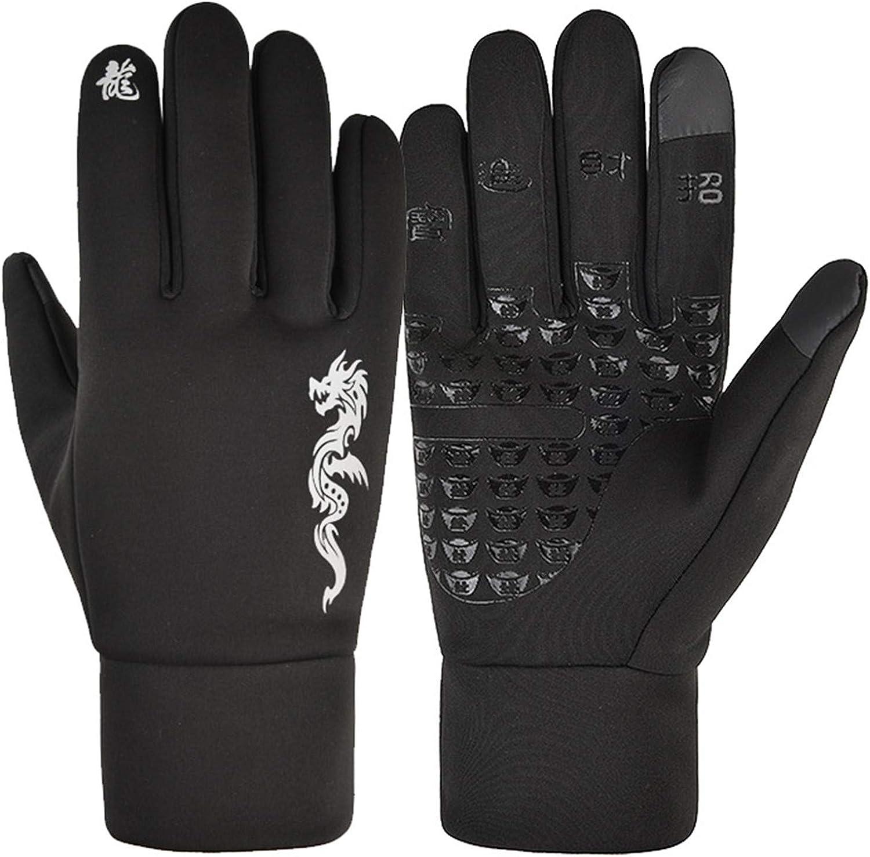 linyma Warm Fleece Windproof Waterproof antiskid Outdoor Sports Gloves 8A3