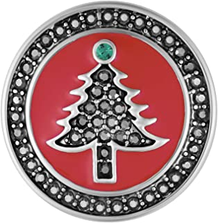 Ginger Snaps Red Hematite Tree Charm Accessory   Interchangeable, Customizable & Adjustable Snap Jewelry Collection   Button Charms for Necklaces, Bracelets & Rings   Standard Size   SN19-36