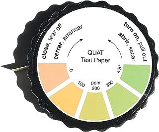 Restaurant Quaternary Ammonium (QAC, Multi Quat) Sanitizer Test Paper, 0-400 ppm [5 Meter Roll]