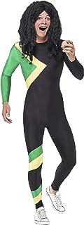 Smiffys, Adult Men's Jamaican Hero Costume, Jumpsuit, Size: L, 21389