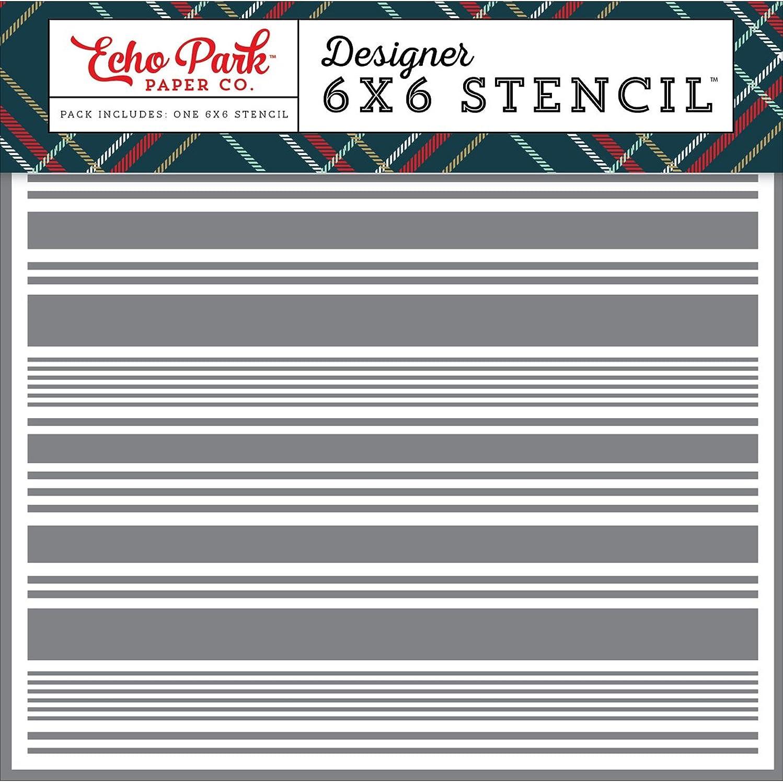 Echo Park Paper Company DH116035 Festive Stripe Stencil