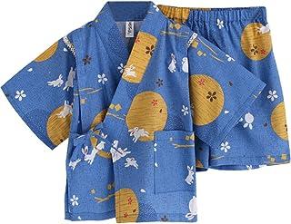 GudeHome 子供甚平 じんべい 男女兼用 パジャマ 和柄 肌着 浴衣