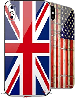 2 Decal Style Skin Wraps Set for Apple iPhone X and XS Union Jack 02