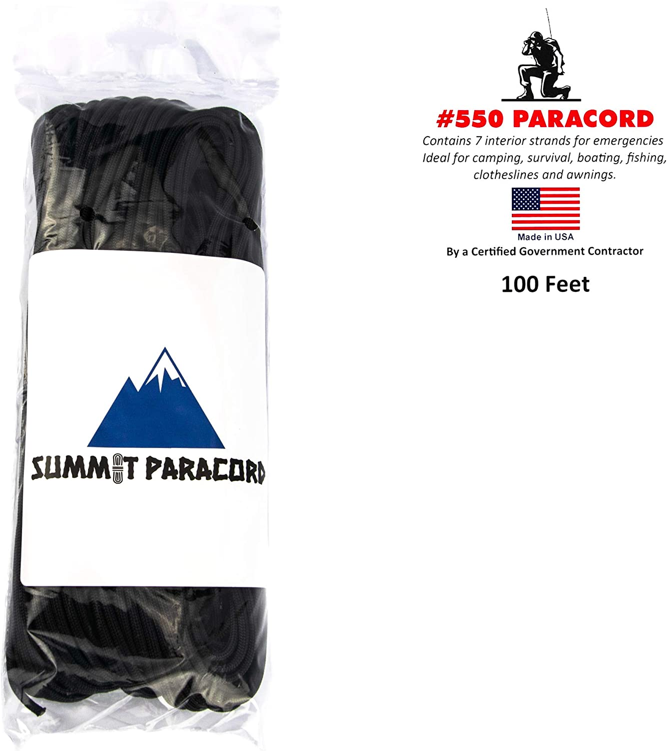 Mil-Spec Commercial Grade 550 50,100 Foot Type III 7 Strand Paracord//Parachute Cord
