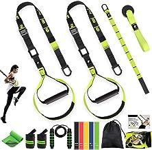 AILUKI Slingtrainer Sling Trainer Set met deuranker Resistance Strap Kit Verstelbare fitnessbanden Thuis Suspension Weerst...