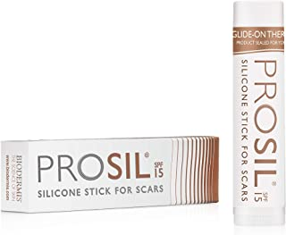 Pro-Sil SPF (Pro-Sil Sport) Patented Silicone Scar Treatment Stick w/Sunscreen (SPF 15) – Clinically Proven to Reduce the Appearance of Old & New Scars – Easy Glide-on Applicator, 4.25g
