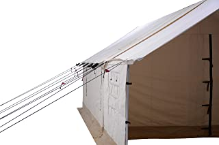 Image of Porch for Alpha Wall Tent, Complete with Heavy Duty Aluminum Frame, Angle Kits & Stakes for Hunting, Family Camping & Outdoor Activities