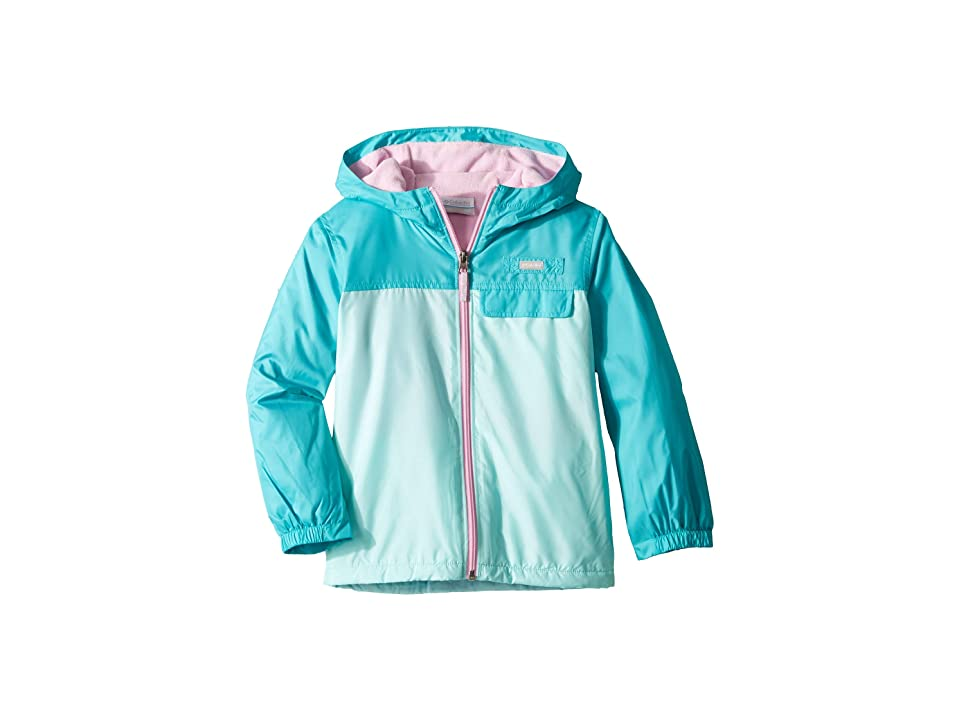 Columbia Kids Mountain Side Lined Windbreaker (Little Kids/Big Kids) (Gulf Stream/Geyser/Pink Clover) Girl