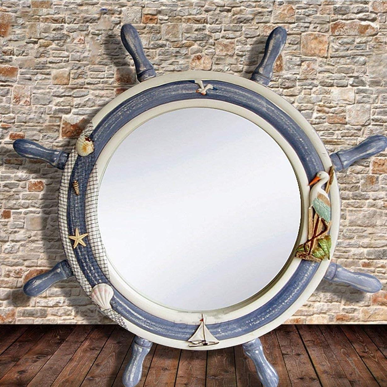 めまい最も遠いデンマーク語バスルームミラーヨーロッパモダンシンプルウォールハンギングドレッシングエントランスミラートイレ美容デコレーション防水ウォッシュメイクアップミラー(サイズ:Helmsman)
