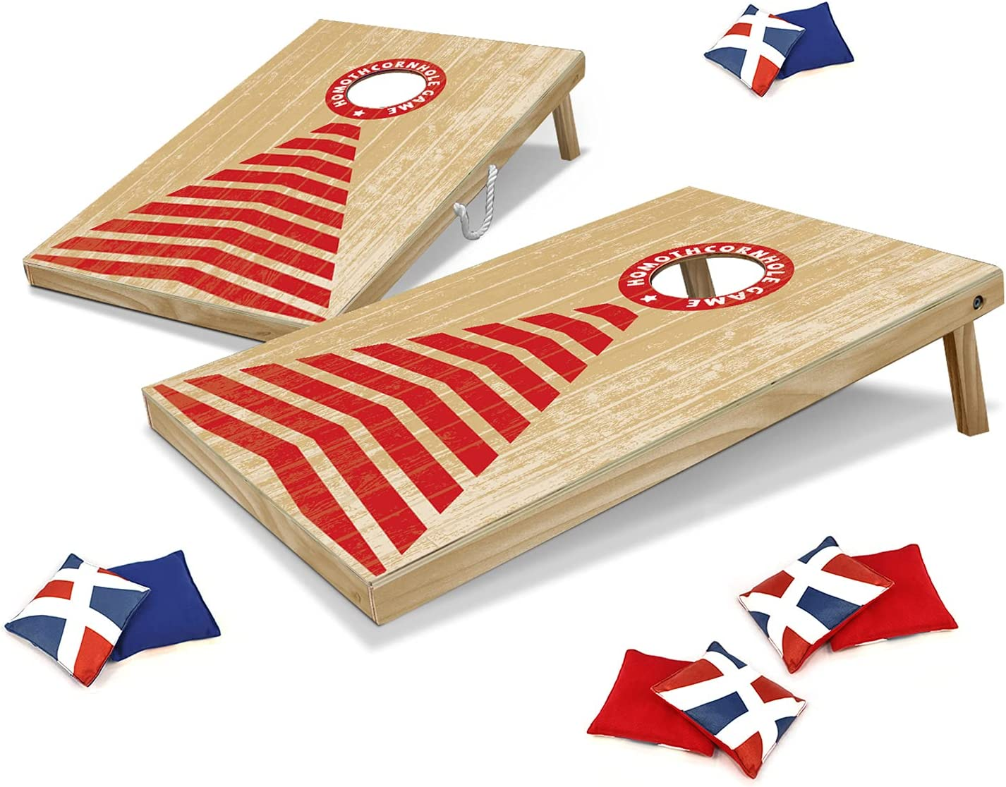 HOMOTH Cornhole Boards with 8 35% OFF Bags Yard Corn Ranking TOP2 Toss Hole