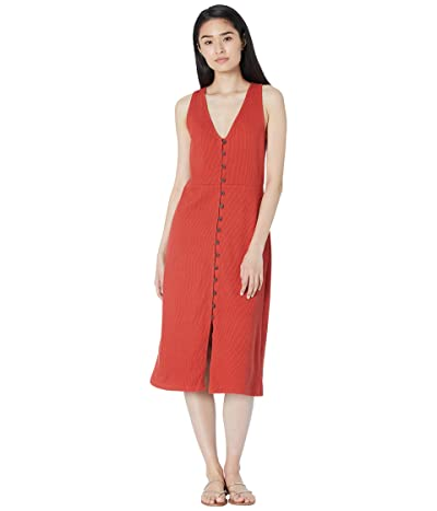 Madewell Ribbed Button-Down Tank Midi Dress Women