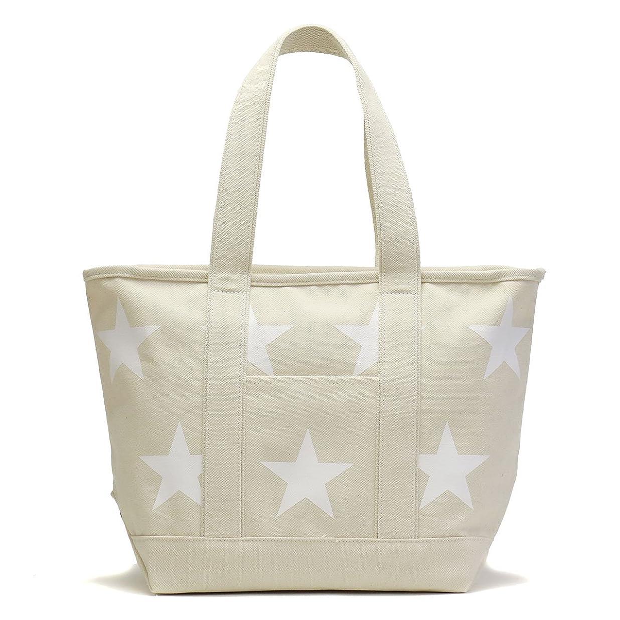 モバイル手首虫[コンバース]CONVERSE M size STAR Print Tote Bag トートバッグ 17946100 オフホワイト/02