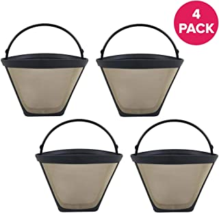 Crucial Coffee Cone Filter Replacement Part For Coffee Filter No. 4 - Compatible With Black & Decker, Braun, Cuisinart, Hamilton Beach, Krups, Mr. Coffee, Norelco, Proctor Silex (4 Pack)