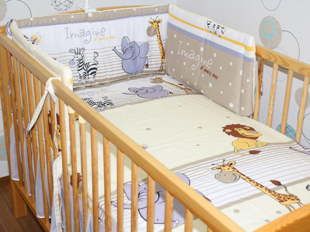 360 cm 420cm für Bett 70x140 cm 60x120cm Sterne grau-blau auf Weiß 190 cm Primawela Nestchen Bettumrandung Kopfschutz 190 cm