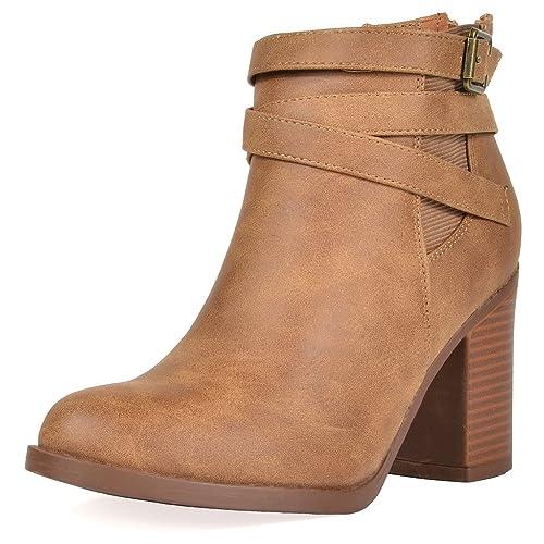 acda4b81085cf Women's Tan Ankle Boots: Amazon.com