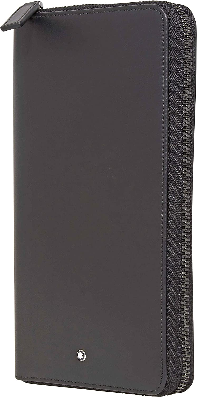 Montblanc Nightflight Black Travel Wallet 118278,21.5 x 12 x 2.5 cm